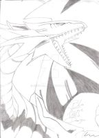 Blues Eyes White Dragon by Krishtal