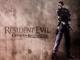 Leon S Kennedy wallpaper by Claire-Wesker1