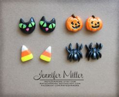 Halloween Earrings by ArteDiAmore
