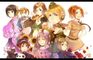 Hetalia Fem Party by miimiiakatsuki