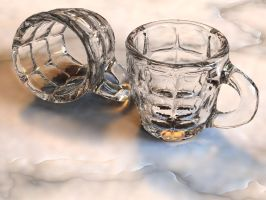 Two glass mugs by D-Money-16
