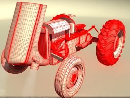 Tractor WIP wireframe by Affet-kak