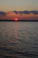 Autumn Sunset Lake Simcoe by KeswickPinhead