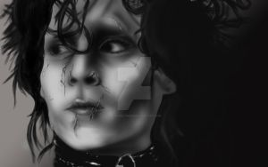 Edward Scissorhands Drawing by DeviouslyInked