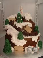 The Polar Express Cake by Afina79