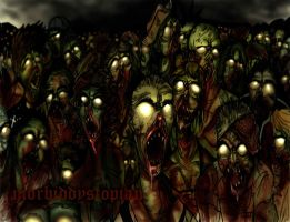 zombie apopolypse in colour. by morbid-dystopian