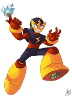Rockman 25th - Elecman by Ian-the-Hedgehog