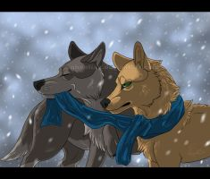 Hey buddy, don't eat my scarf! by Ghentian