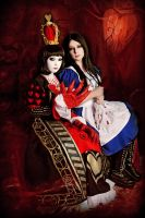 Alice Liddell and Queen of Hearts 3 by LucyIeech