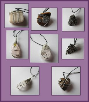 Wire Wrapped Gemstone Jewelry by MetallicCrayon