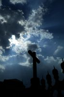clouds and cross by samo19