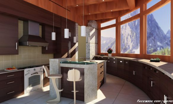 Mountain Kitchen by aXel-Redfield