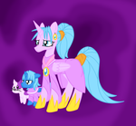 Schala and Janus Ponies by MistyKoopa