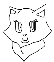 Smiling Head [f, lh] by skyclan199