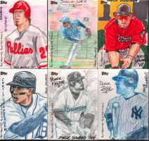 MLB Sketchcards- First Set by kumajin1