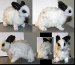 Realistic White Rabbit Plush by Jarahamee