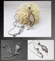 Adara- wire wrapped necklace by mea00