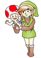 Classic Link and Toad by pocket-arsenal