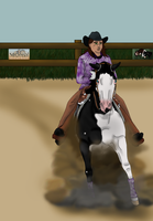 Player at HR's 2012 Western Classic Reining by angry-horse-for-life