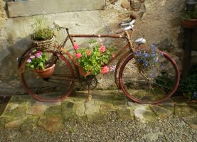 Flowery Bike by bakenekogirl