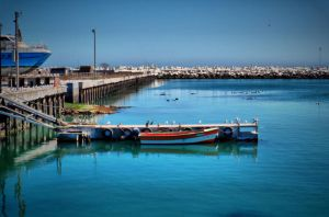 Robben Island Harbour by cnrd