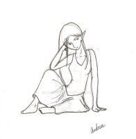 Andrea sitting by Lillagon