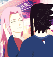 Sakura and Sasuke at the Festival by naruto3119