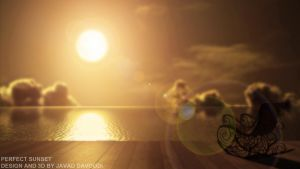 perfect sunset by DAVOODIJAVAD3D