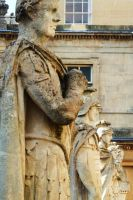 Bath - Roman statues by PhilsPictures