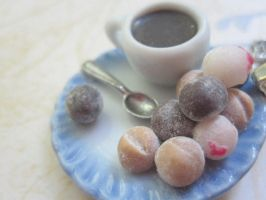 Timbits and Coffee Necklace by CandyChick