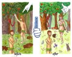 Adam and Eve by Cynical-Rabbit