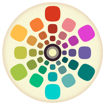 Worn Vintage Color Wheel by hassified