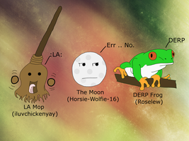The Mop, The Moon and The Frog by Skiebear