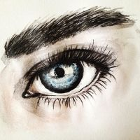 {Quick watercolor eye sketch} by LumosKitty