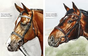 The first horseportrait and the newest... by AtelierArends