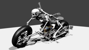 Skeleton  Bike by Ibartu35