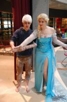 Elsa Cosplay frozen and Jack frost by lilkillasophie