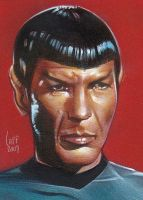 Spock - Sketch Card by JeffLafferty