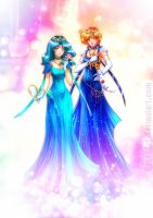 Neo Princess Uranus and Neptune by Axsens
