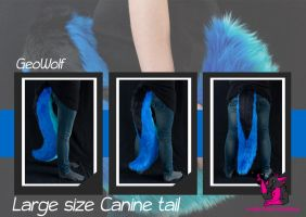 large canine tail - Geowolf by FurryFursuitMaker