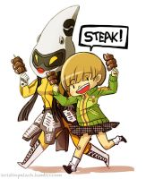 Chie loves Steak by mystcloud