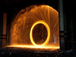 Wire wool spinning 3 by AngiWallace