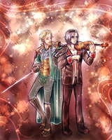 .: Sketch Commish Adam and Fandral :. by StephanieRosario