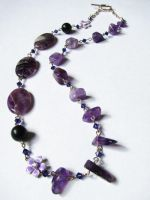 Amethyst Necklace - Sold by VioletRosePetals