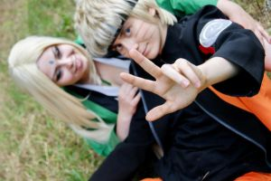 Tsunade with Naruto by ToraCosplayers