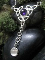 Trinity Moonstone Necklace by camias