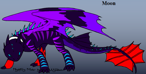 Moon - Night Fury Form by kasanelover