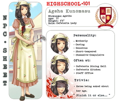 HS101 [NPC] - Cafeteria Lady by ymirre