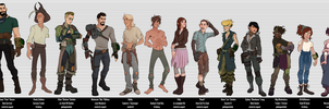 Fallout 4 - Character Sheet Line-up by CamBoy