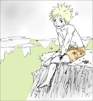 Naruto Sitting by theanimejump